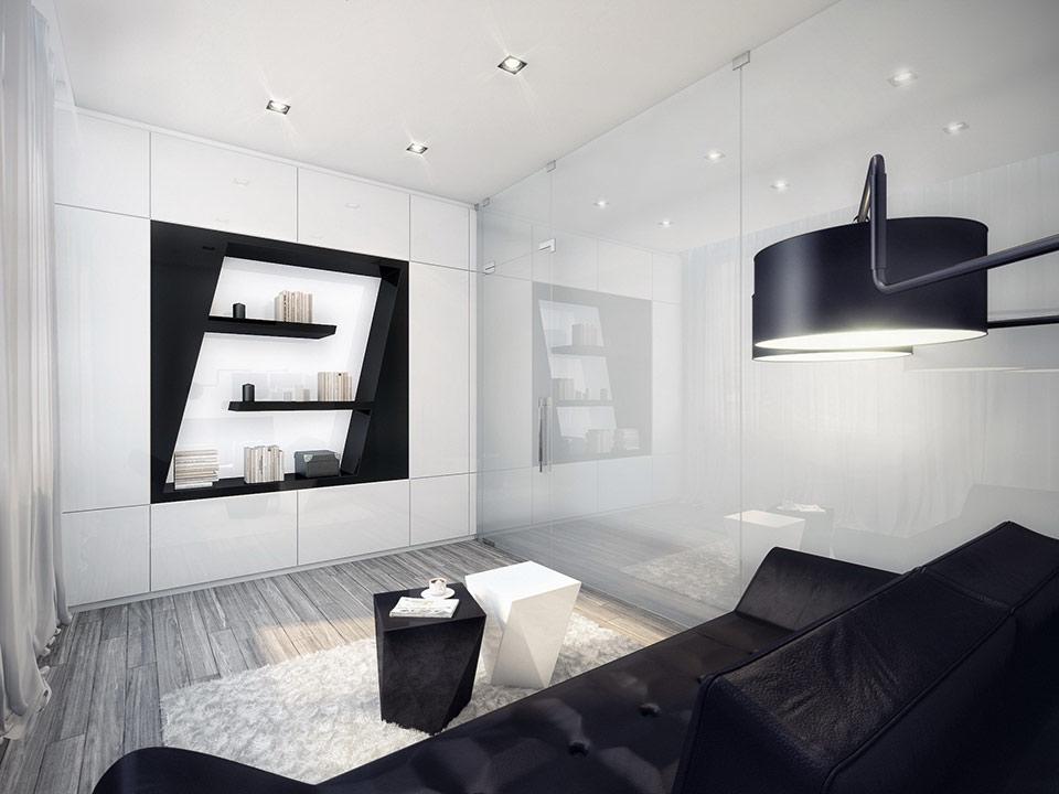 Amazing Black And White Living Room Design Interior