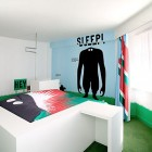 Amazing Hotel Room with Mural for Teen
