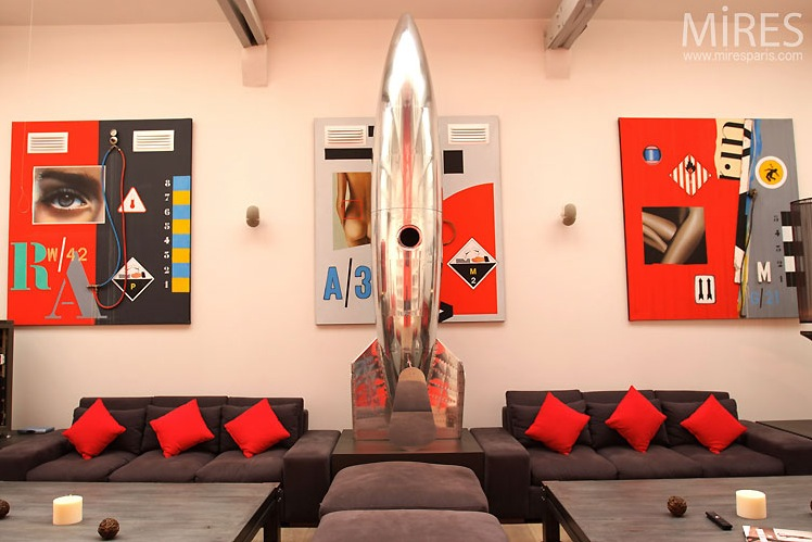 Red and green loft design ideas interior design design - Red and green interior design ...