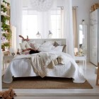 Amazing White Bedroom Design from IKEA