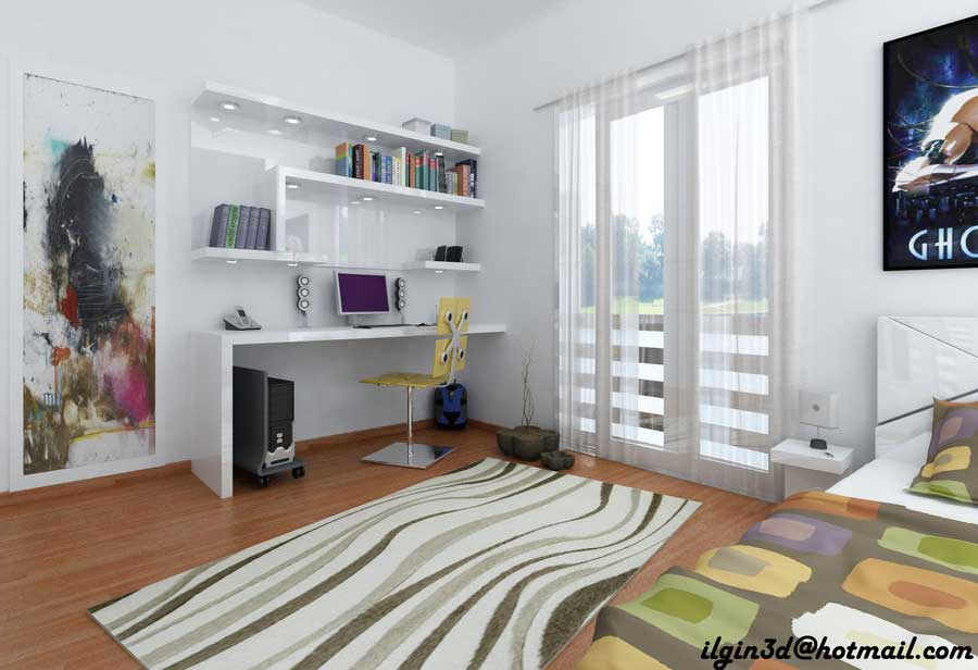 Amazing Young Room Workspaces Design 2011 by Akcalar