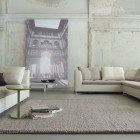 Artistic Living Room with White Wall Paintings