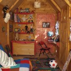 Awesome Boys Playhouse Interior Details