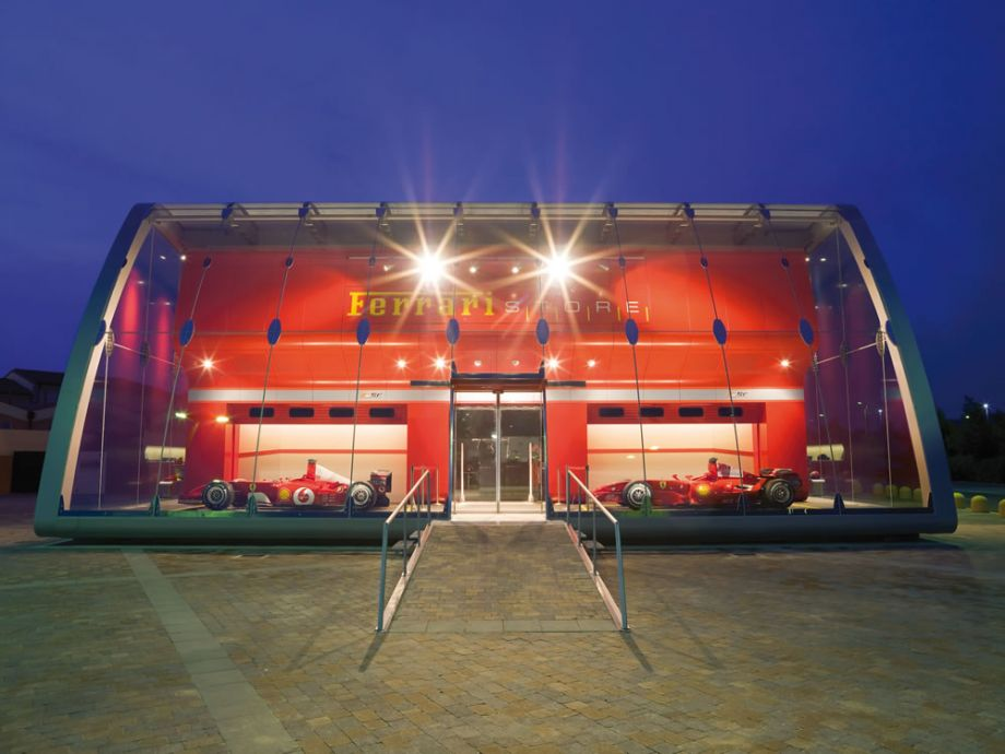 Awesome Ferrari Factory Store Front View