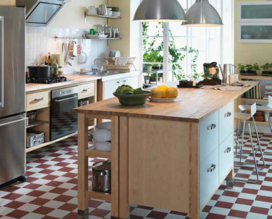 Awesome IKEA Kitchen Design with Floor Squares
