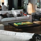 Awesome Living Room Design IKEA 2011 wit White Couch
