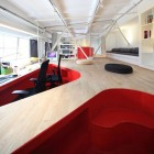 Awesome Red Desk Recessed