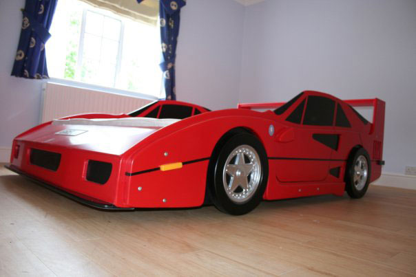 Awesome Red Ferari Bed for Boys