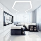 Awesome White and Black Entertainment Room Design Ideas