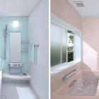 Beautiful Blue and Pink Small Bathroom Design Ideas