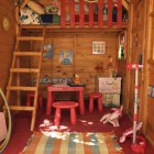 Beautiful Girls Playhouse Interior Details with Doll and Hula Hoop