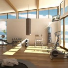 Beautiful Home Gym with LCD TV