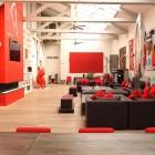 Beautiful Red and Black Parisian Loft Design