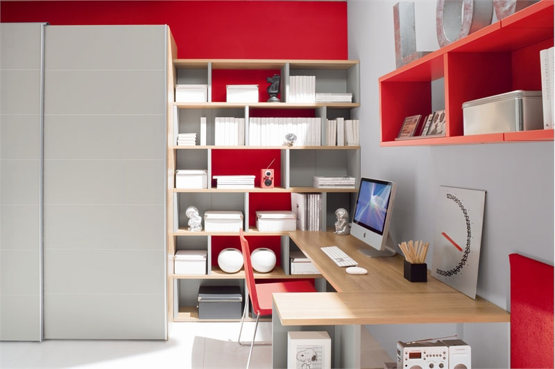 Modern Red And White Teen Room Design Inspirations - Bedroom ...
