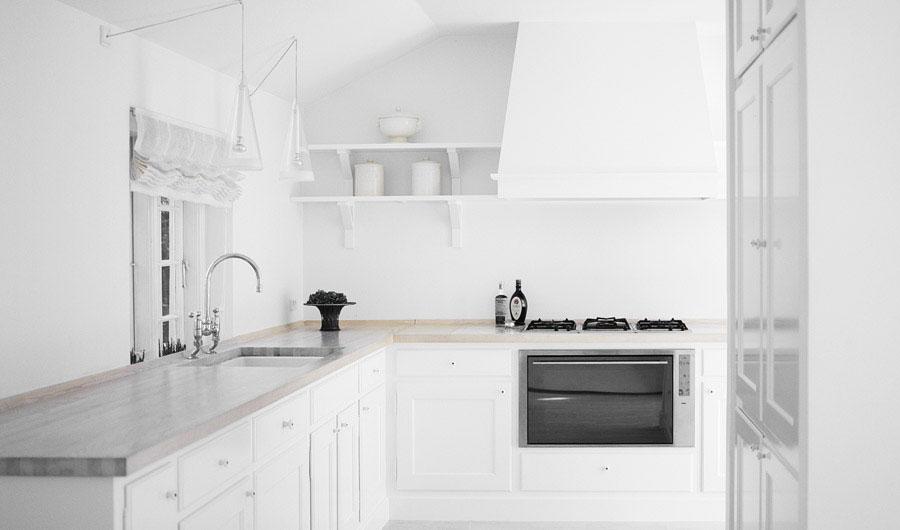 Beautiful small kitchen white color ideas interior for Beautiful small kitchen designs