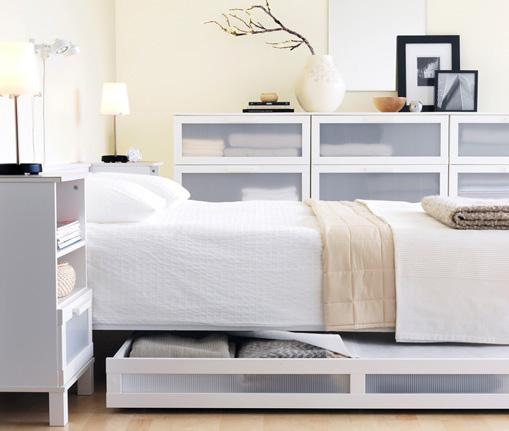 Beautiful White Bedroom Design Idean From IKEA Interior Design Ideas