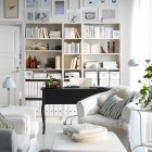 Beautiful White Living Room IKEA design