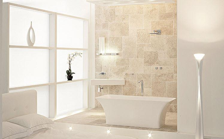 Beautiful white and beige bathroom ideas interior design ideas - Beige bathroom designs ...