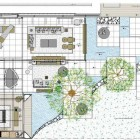 Floor Plan Sketch of Indoor Outdoor House