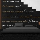 Black Bedroom Wall Sticker Quotes Decorations