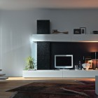 Black and White Modern Wall Unit Design