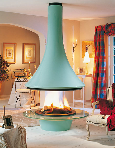 Blue Luxury Hanging Fireplace Ideas Interior Design Ideas