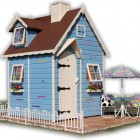 Blue Outdoor Play House Design