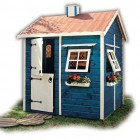 Blue and White Playhouse Design for Kids
