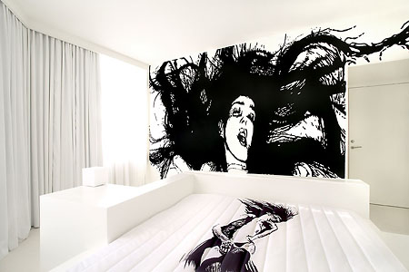 Bright White Hotel Bedroom