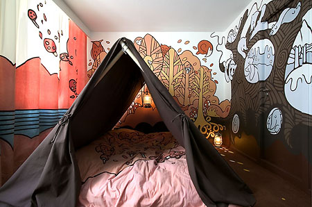 Camp Hotel Bedroom Themed for Kids