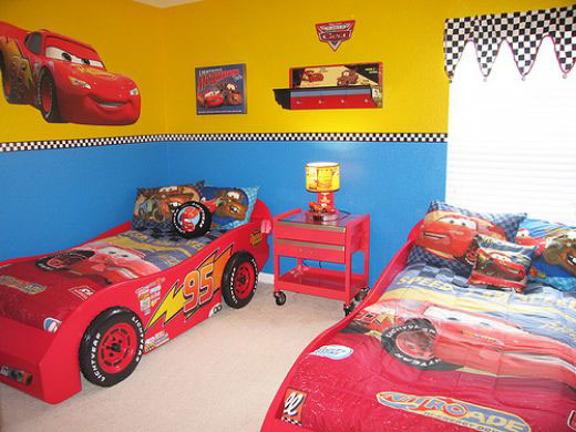 Children's Cartoon Cars Bedding Ideas