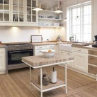 Classic Framed White Kitchen with Wooden Floor