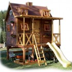 Classic Wood Outdor Playhouses