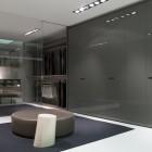 Contemporary Closet and Wadrob Decoration with Sliding Glass