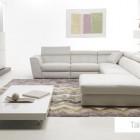 Contemporary Living Room with White Sofa Set