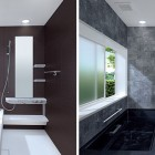 Contemporary Small Bathroom with Single Shower Stand