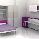 Contemporary Teen Room Furniture for Small Bedroom by Clei