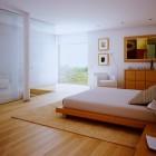 Contemporary White Bedroom Wood Floors Design 2011
