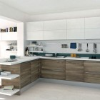 ContemporayWhite Kithcen with Blue Accents by Armando Ferriani