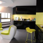 Cool Green Loft Entertainment Area
