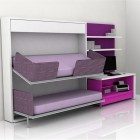 Cool Purple Teen Room Furniture for Small Bedroom by Clei