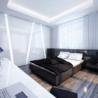 Cool White and Black Bedroom Design Inspiration