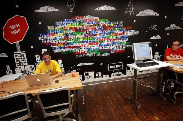Cool and Urban Workspace Setup Google