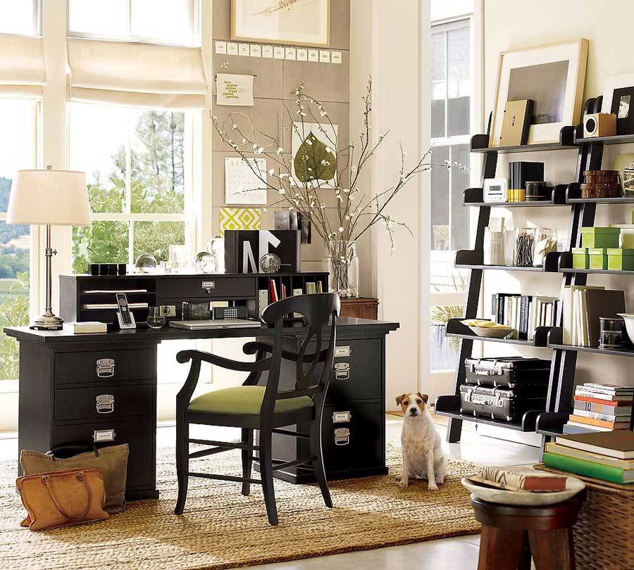 Elegant Home Office Storage Design - Interior Design Ideas
