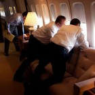 Enjoying the View Outside on Air Force One