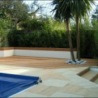 Family Designer Garden Inground Pool Ideas