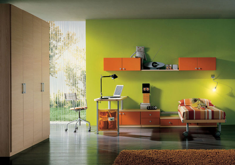 Fresh Green Color Childern Rooms