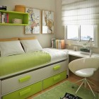 Fresh Green and Beige Workspace Decoration