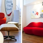 Funky Milan Red Furniture in Small Space