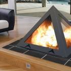 Futuristic Pyramid Fireplace 2011